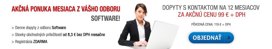 Akčná ponuka - dopyty s kontaktom Software