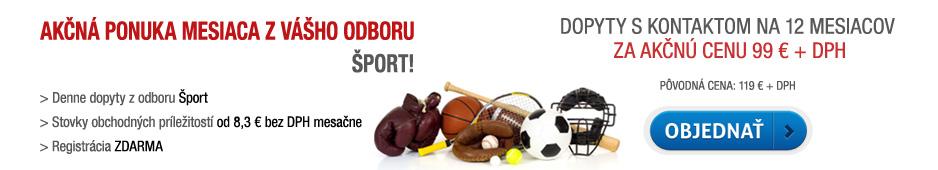 Akčná ponuka - dopyty s kontaktom Šport