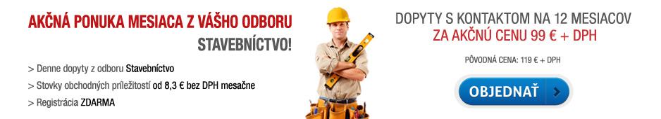Akčná ponuka - dopyty s kontaktom Stavebníctvo