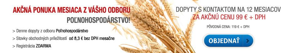 Akčná ponuka - dopyty s kontaktom Poľnohospodárstvo